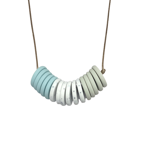 CASINO Teething Necklace Whisper Blue