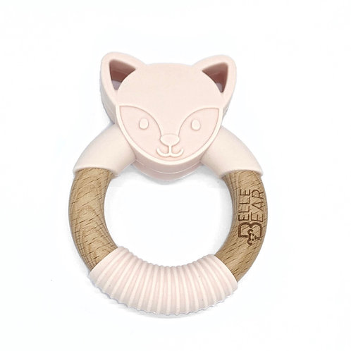 Blush FOXY Teether Silicone & Beech