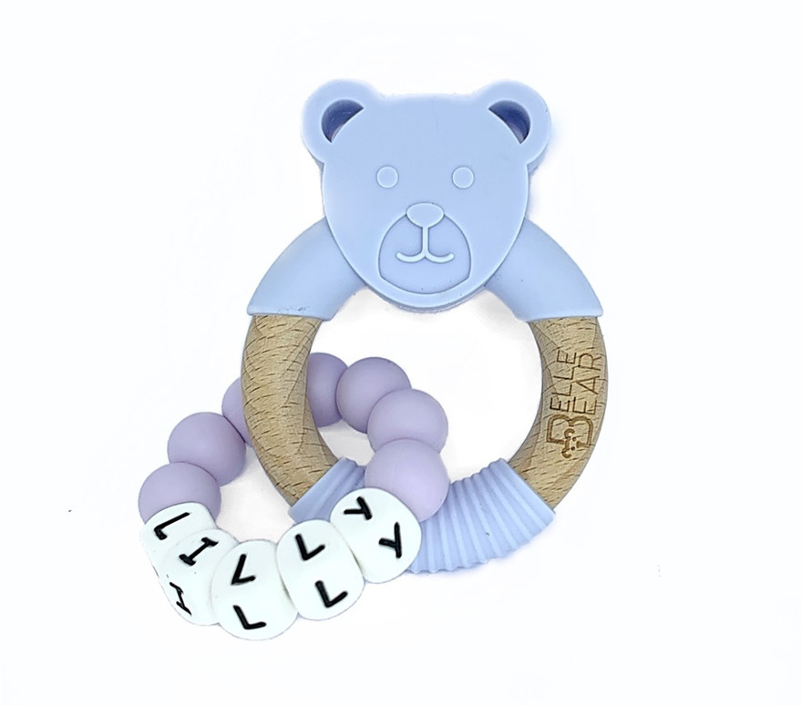 For Me Teether Lilac Bear