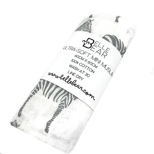 Zebra Ultra-Soft Mini Muslin