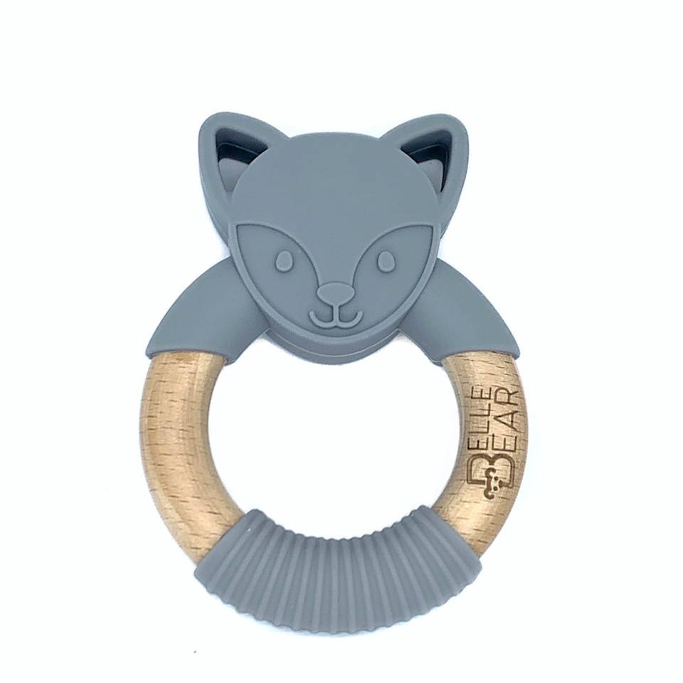 Foxy Teether Dark Grey