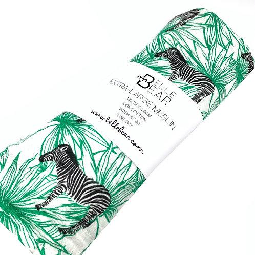 Funky Zebra Extra-Large Muslin Swaddle