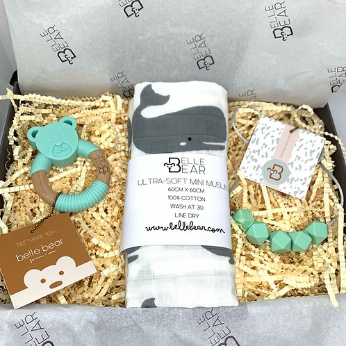 Mint Bear & Whale Mini & Mama Giftbox