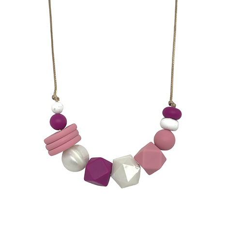 VOGUE Teething Necklace Rose Pink