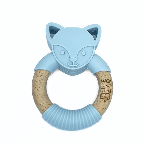 Light Grey FOXY Teether Silicone & Beech