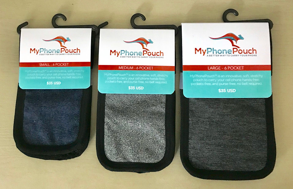 MyPhonePouch comes in three main sizes to fit most phones