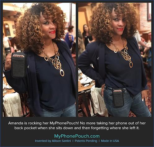Amanda is rockin her MyPhonePouch