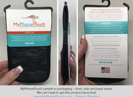One Year Ago Today was the Eve of Inventing MyPhonePouch