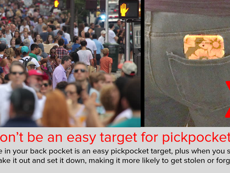 Don't Be an Easy Target for Pickpockets