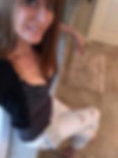 Allison Santini wearing MyPhonePouch prototype