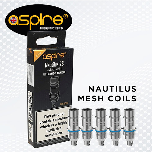 Aspire Nautilus 2s Mesh Coils are 0.7ohm