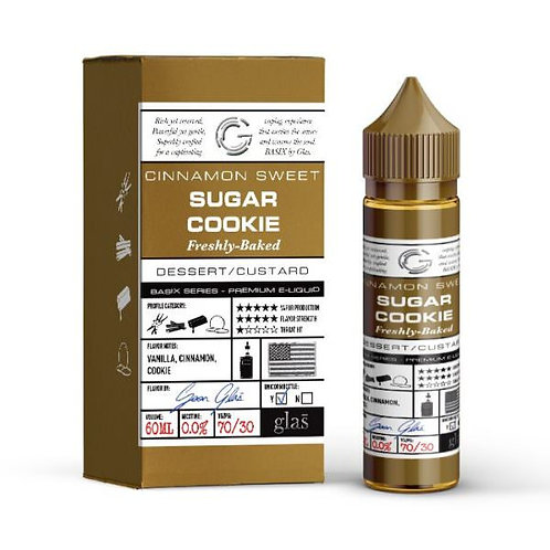 SUGAR COOKIE SHORTFILL E-LIQUID BY GLAS BASIX 50ML