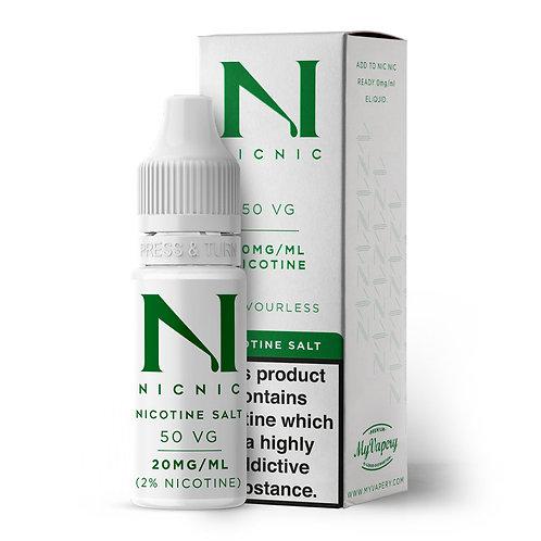 NICOTINE SALT SHOT 20MG BY NIC NIC