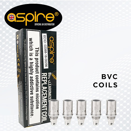 Aspire BVC Coils. 5 Pack