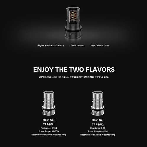 VooPoo TPP Replacement Coils. Pack x 3 Coils