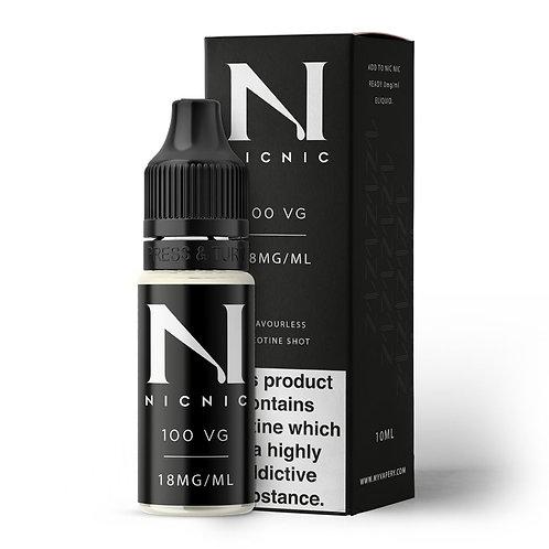 NICOTINE SHOT 100 VG 18MG BY NIC NIC