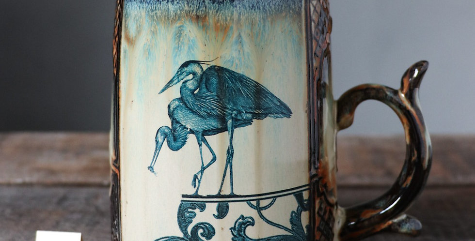 Mug 104: Heron and Leap of Faith