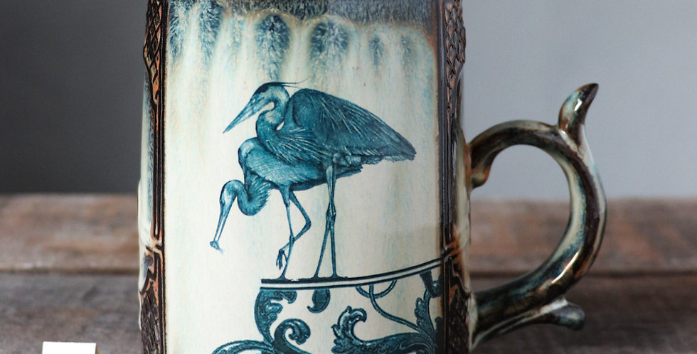 Mug 60: Heron and Leap of Faith