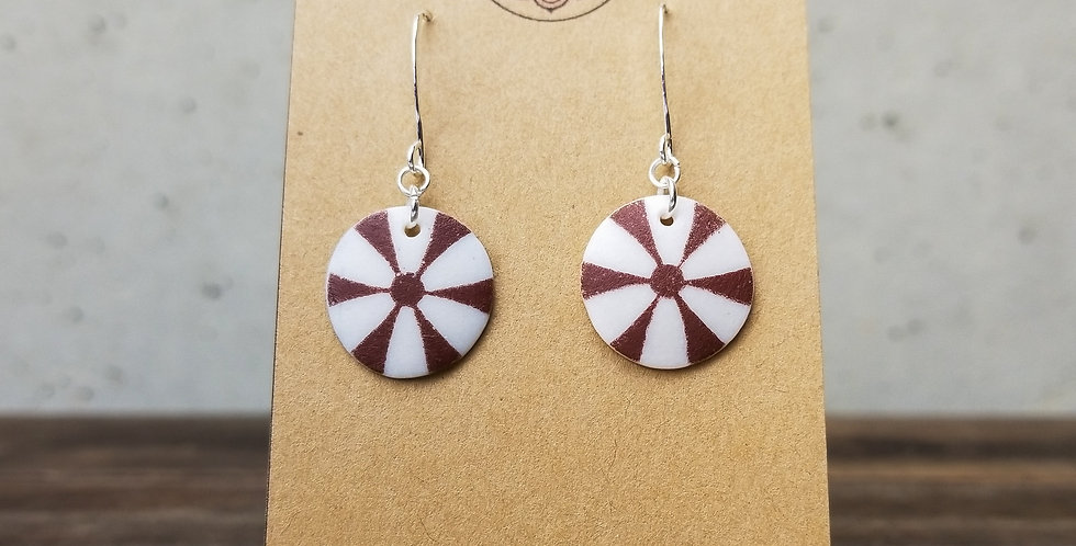 Ivory Small Round Earrings