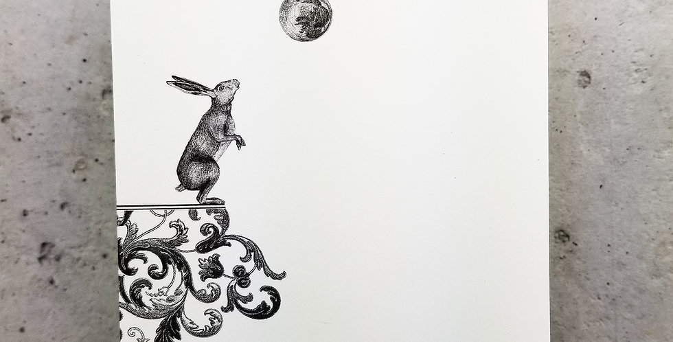 Lunar Hare Greeting Card