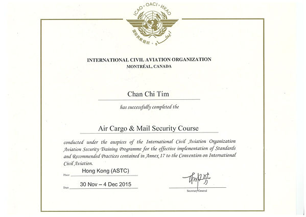 ICAO air cargo security