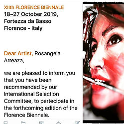 Florence Biennale 2019 with Rosangela Arreaza