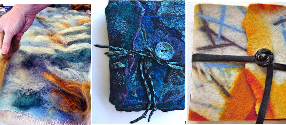 Make a Nuno Felted Journal Cover - Hoylake Wirral
