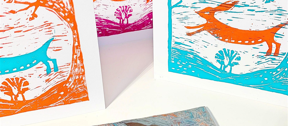 Lino cut & print - Hoylake Wirral