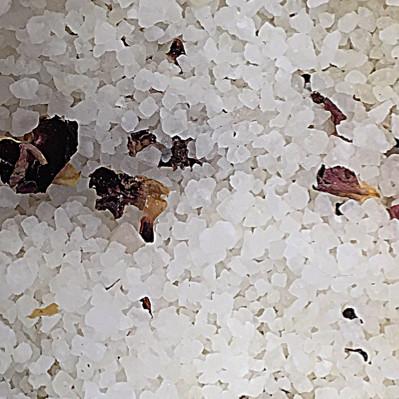 Relaxing, antioxidant Damask Rose + Neroli Dead Sea Salts