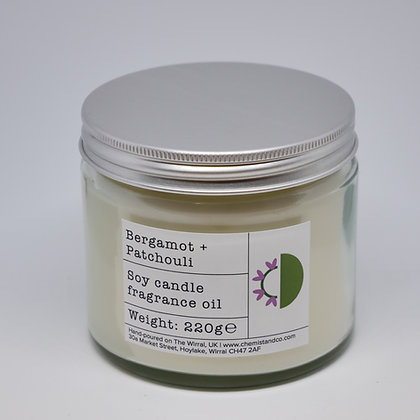 Bergamot + Patchouli 220g