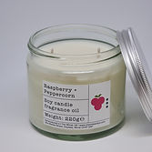 Soy Candle 220g Raspberry + Peppercorn t