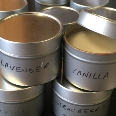 Vanilla in our candle workshop fragrance library.
