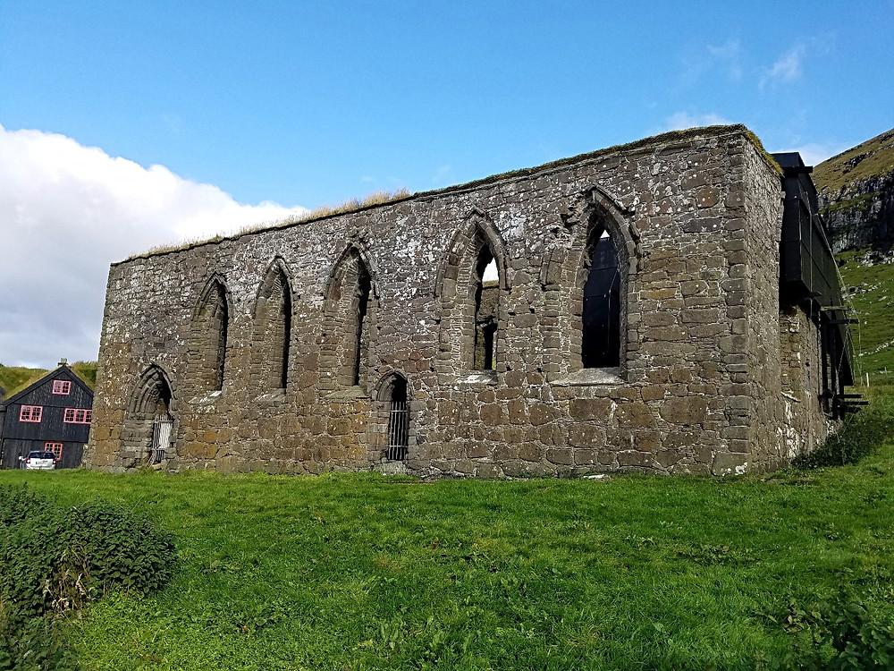 Traveleidoscope: Ruins of Magnus Cathedral, Kirkjubøur, Faroe Islands