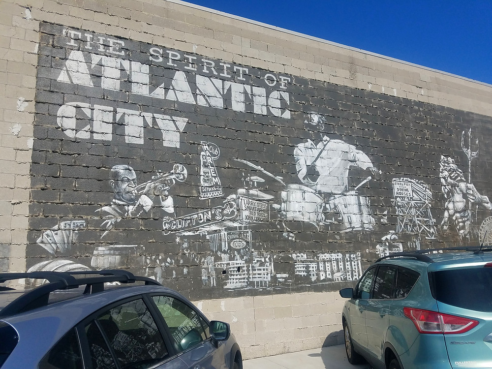 Mural of musicians in Atlantic City