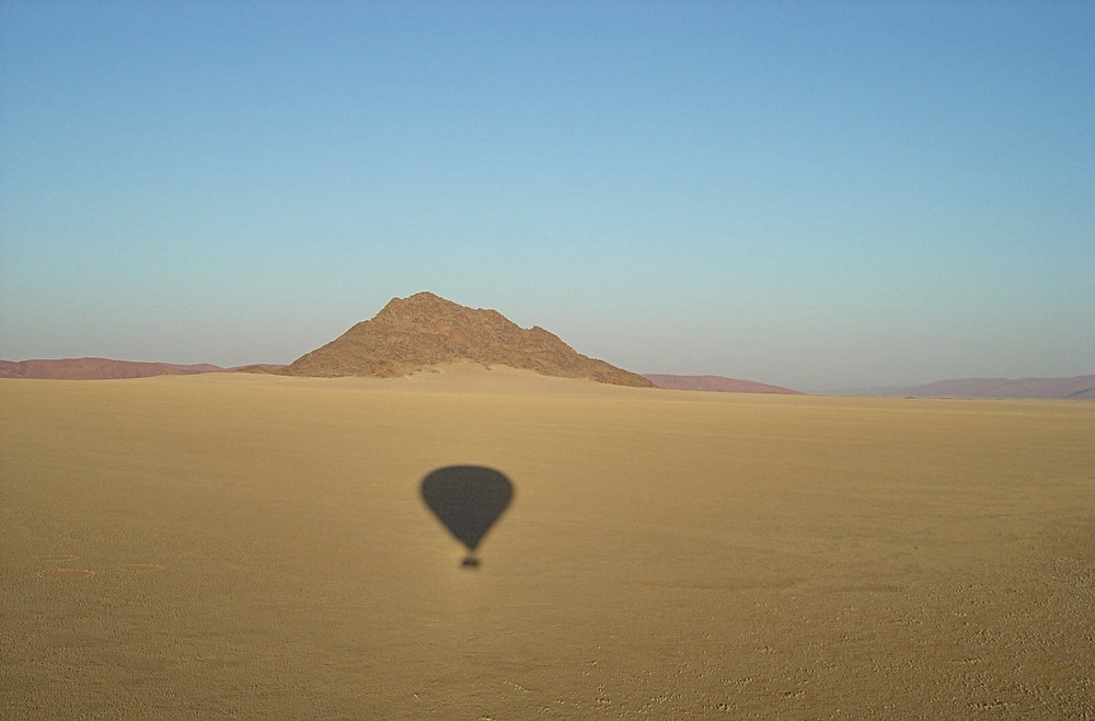 Hot air ballooning over the Namib desert