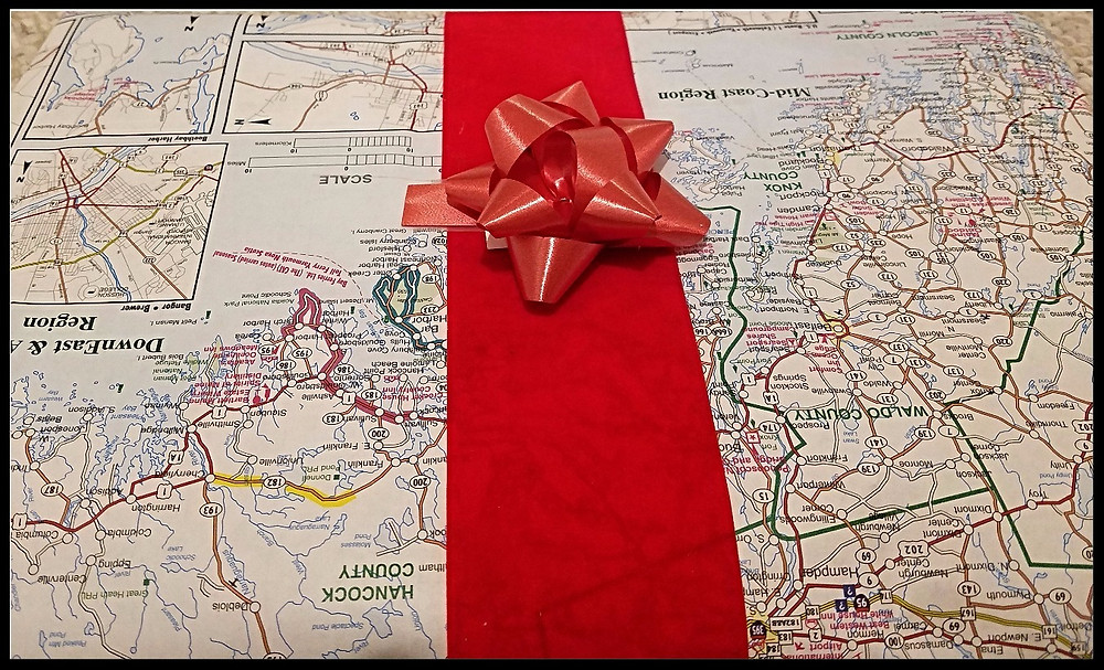 Traveleidoscope:  map gift wrap