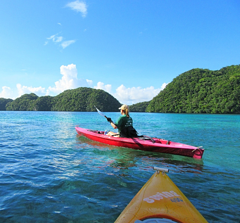 "Kayaking the ""Rock Islands"" of Palau!"