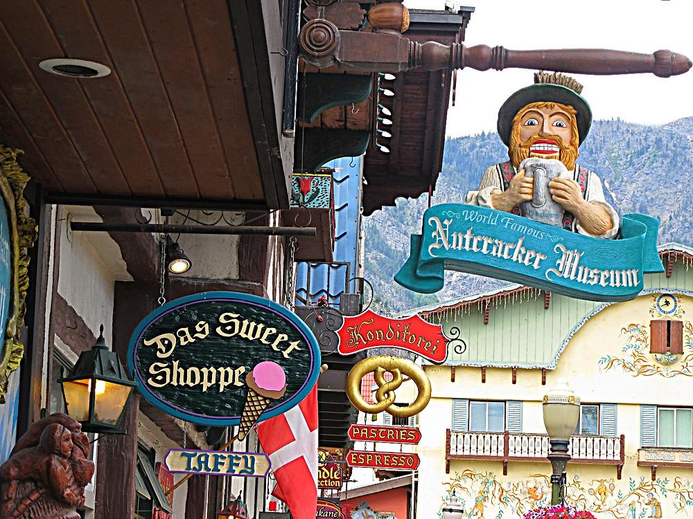 Traveleidoscope:  Signs in Leavenworth, Washington