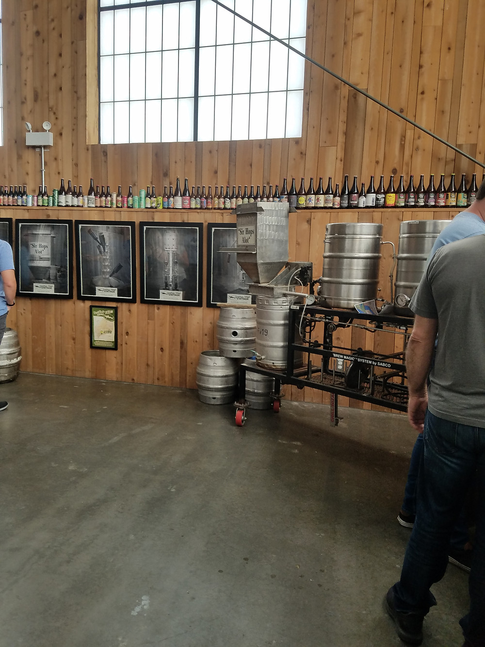 photo of tasting kegs at Dogfish Head Brewery