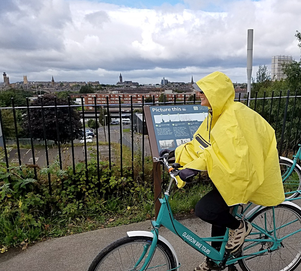 The People's Poncho on a Glasgow Bike Tour