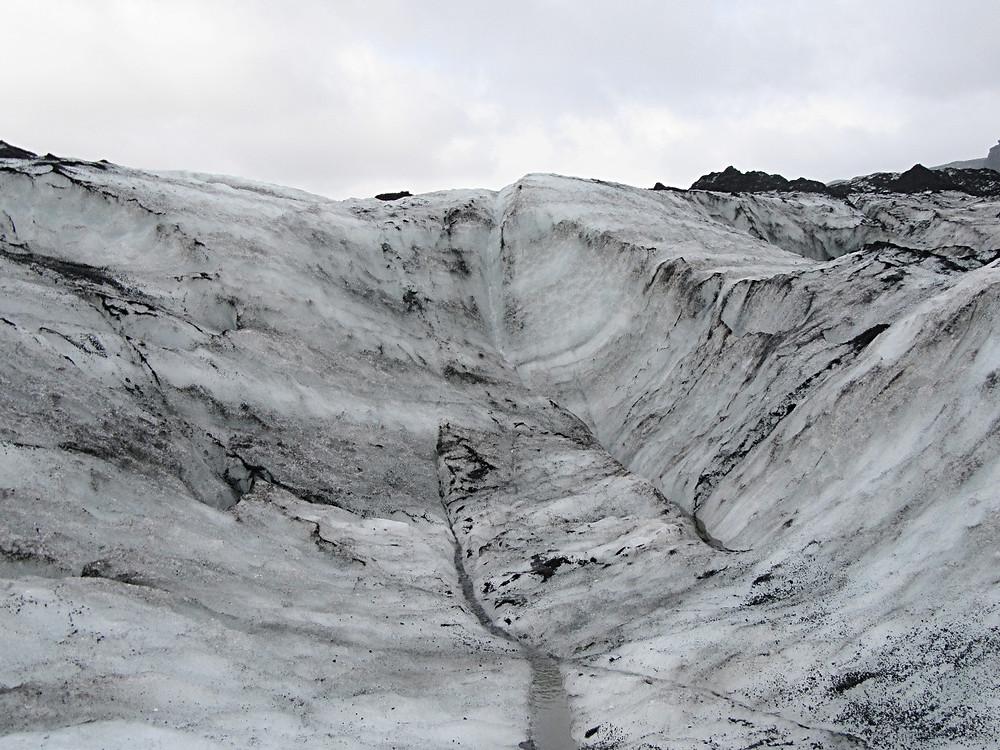 Traveleidoscope:  Iceland glacier wall