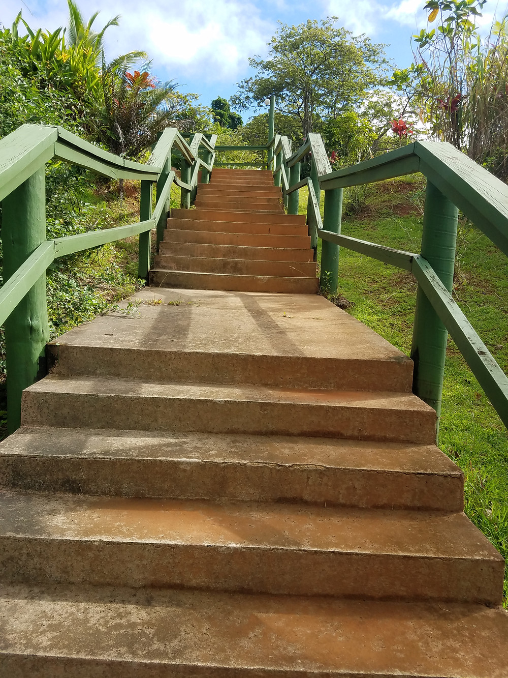 Scenic stairs at Waidroka Bay Resort, Fiji