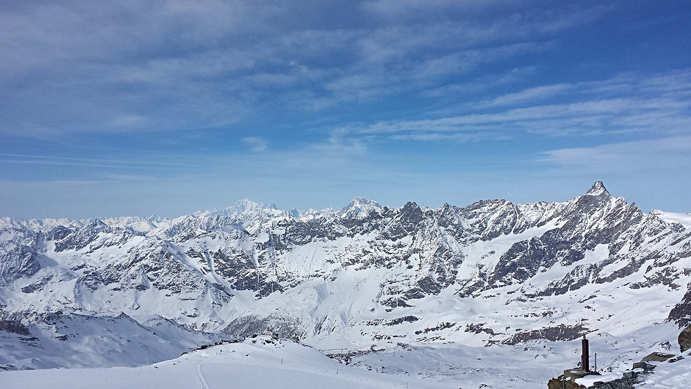 View from the slopes.  Zermatt, Switzerland