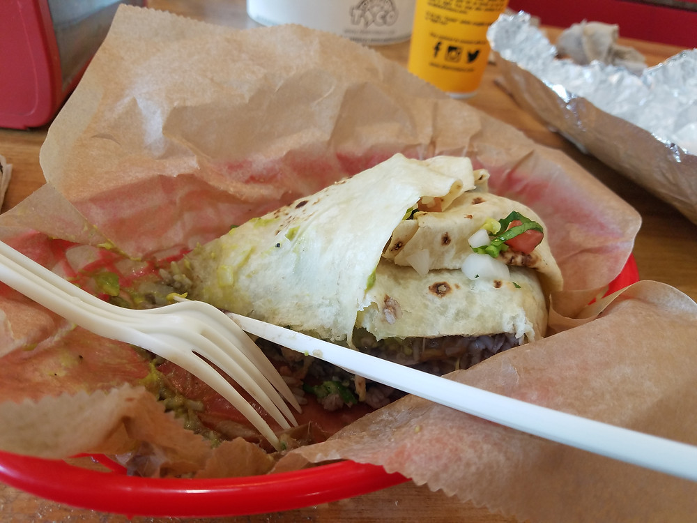photo of veggie burrito