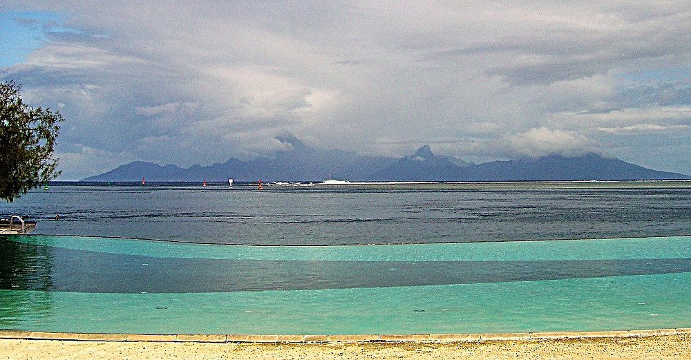 View of Moorea from Tahiti