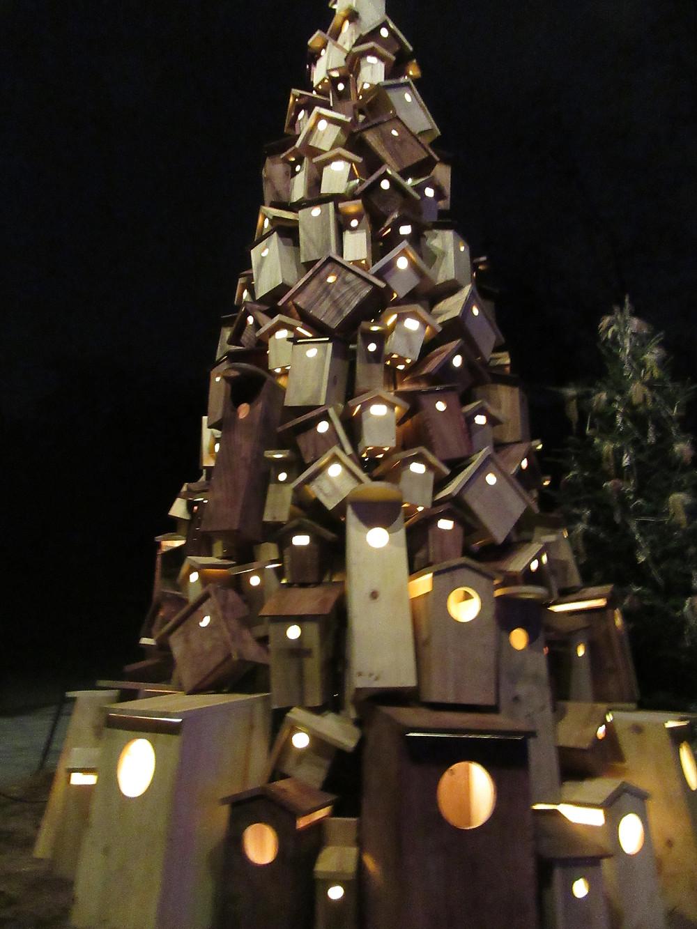 Traveleidoscope:  Birdhouse Christmas Tree, Longwood Gardens, Kennett Square, Pennsylvania