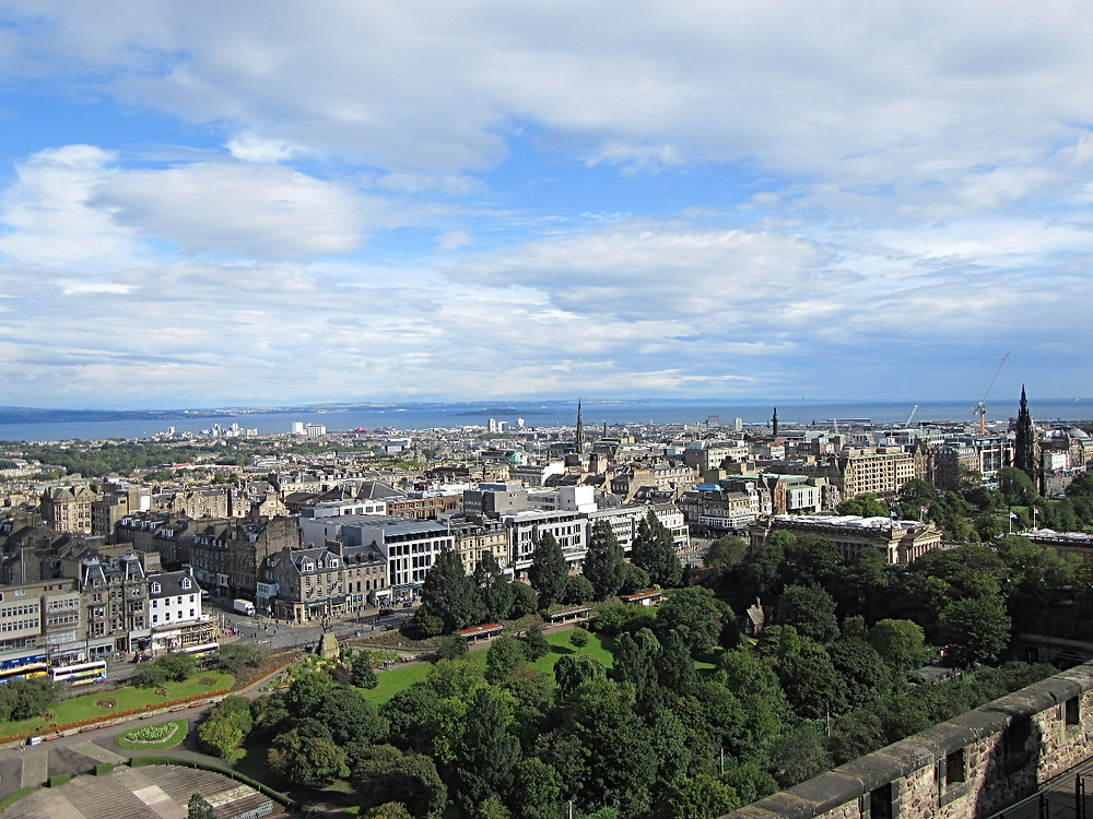 Traveleidoscope:  View of Edinburgh from Castle