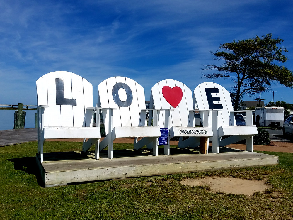 Giant chairs in Chincoteague