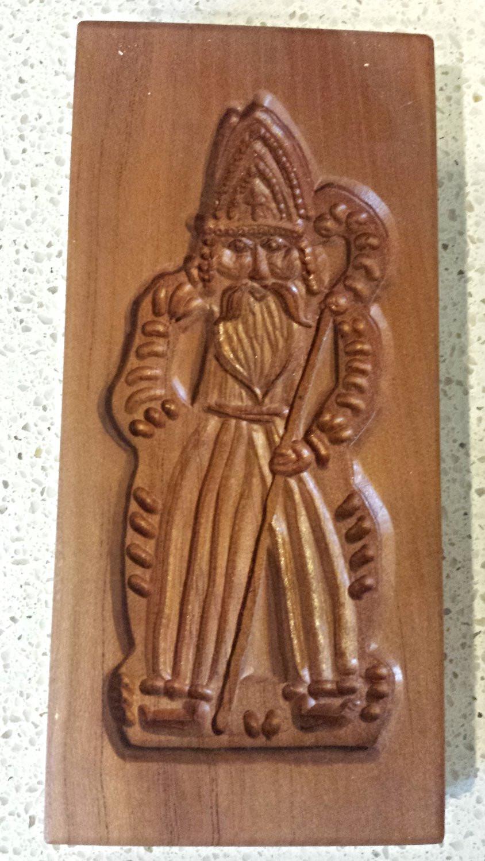 Saint Nicholas Speculaas Mold