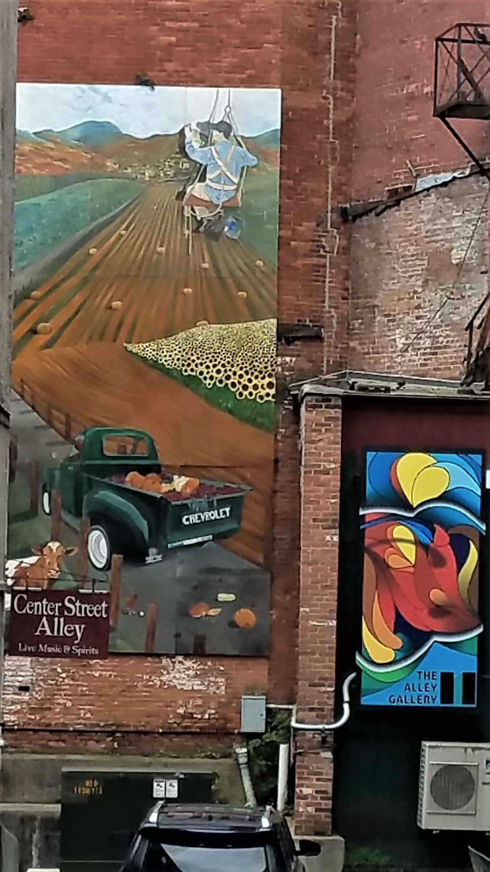 Murals on Center Street Alley, Rutland Vermont